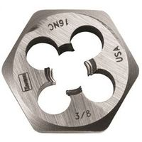 DIE HEXAGON STEEL 3/8IN-16NC