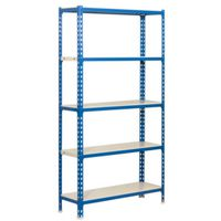 SHELVING BLUE/WHT 35WX16DX71H
