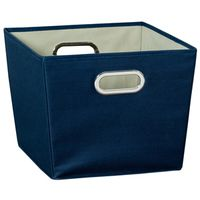 BIN STORAGE W/HANDLE MED BLUE
