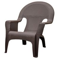 CHAIR LOUNGE WOVEN EARTH BROWN