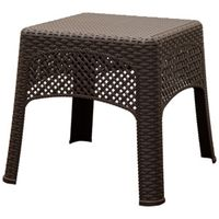 TABLE SIDE WOVEN EARTH BROWN
