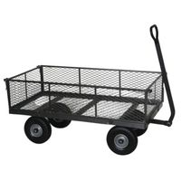 CART YARD 800# GRAY FLAT FREE