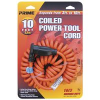 CORD EXT PWR TL ORG 16/3G 10FT