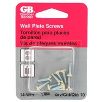 GB 14-WPI Flat Head Wall Plate Screw Kit