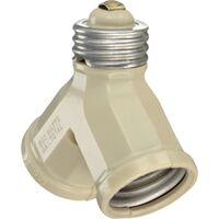 Leviton 006-00128-00I Twin Light Socket Adapter
