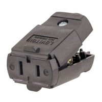 Leviton 015-00102-00P Swivel Triple Cube Tap Cord Connector