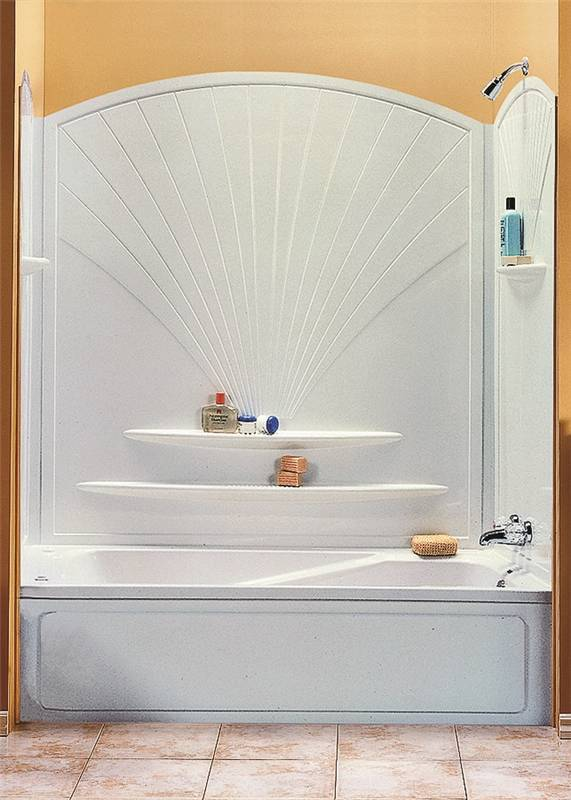 Maxx Decora 101592-000-129 5-Piece Bathtub Wall Kit, 56 - 60 in L X 30 -  30-3/8 in W X 63 in H