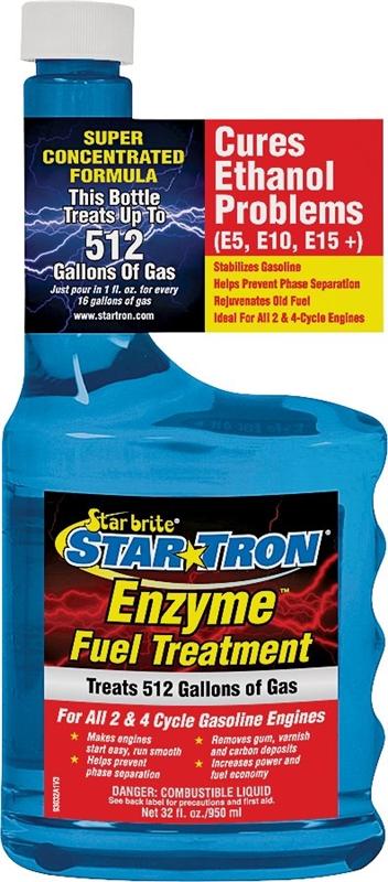 Star Tron 93032C Enzyme Marine Formula Gasoline Fuel Additive, 32 oz,  Bottle, Clear, Liquid