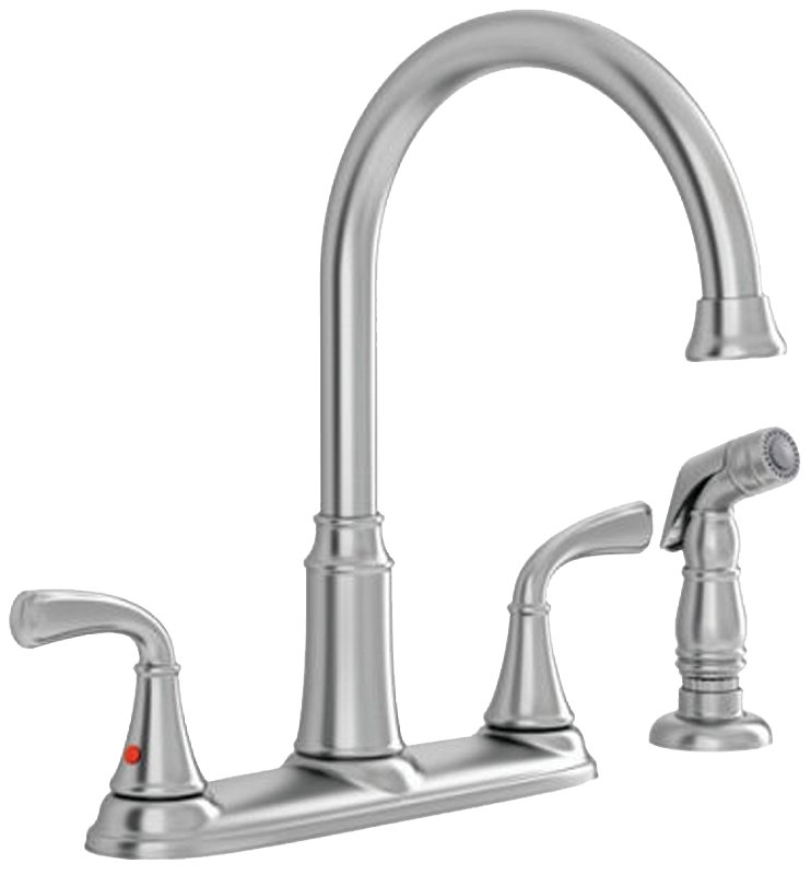 Tinley 7408400 075 Kitchen Faucet With Side Spray Lever