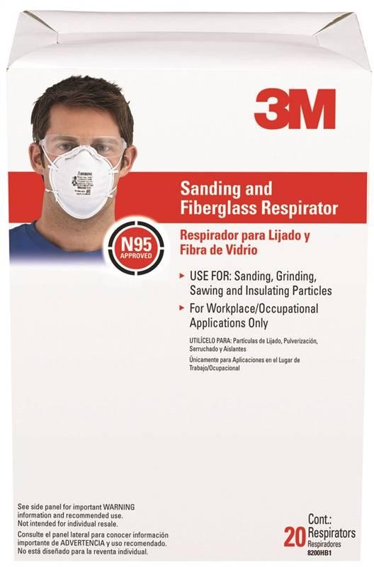 3m tekk protection paint sanding respirator masks - 20 pack