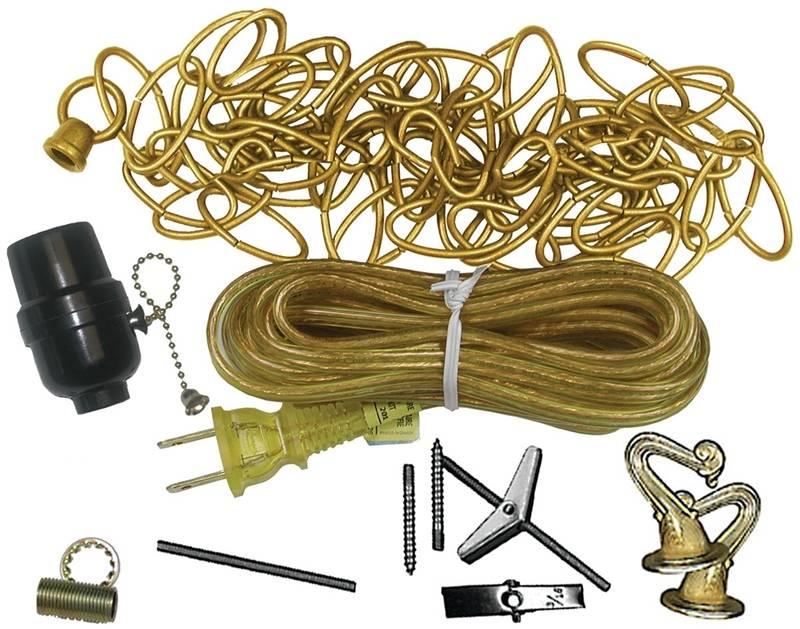 Atron La702 Assorted Swag Lamp Kit Bright Brass