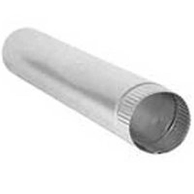 Aluminum DUNDAS JAFINE P4E20ZW Heavy Gauge Dryer Vent Pipe 4 In X 24 In Snap Lock 4 x 24