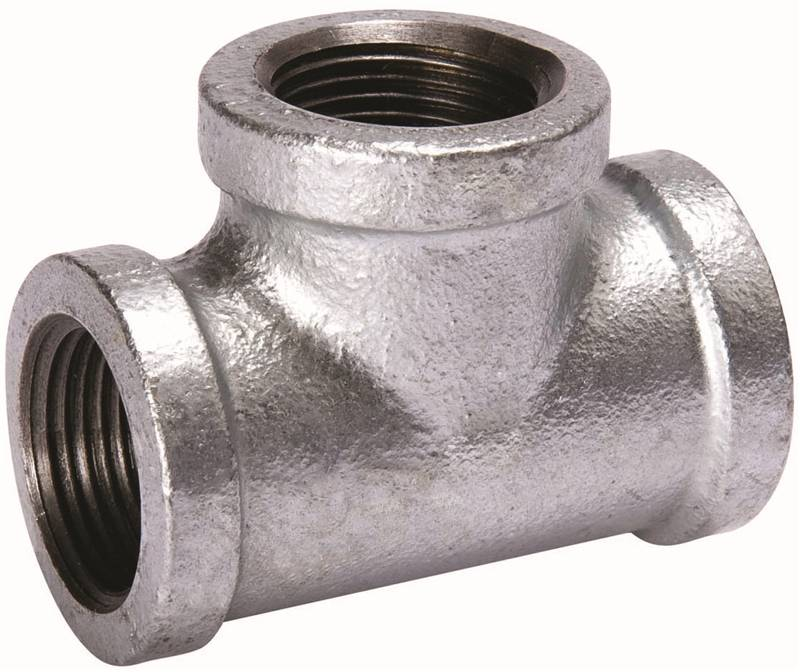 B & K 510-610BC Pipe Tee, 3 in, Threaded, Malleable Iron