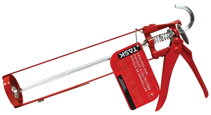 Red With Black Mintcraft SJ0051 Caulking Gun with Smooth Rod