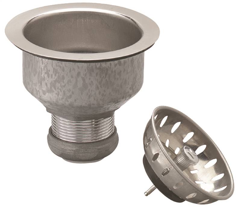 kitchen sink basket strainers plumbpak pp5412 kitchen basket strainer with fixed cup 5647