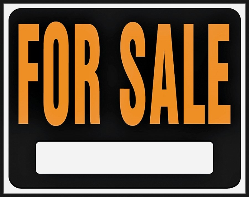 sign for sale jumbo plast kit