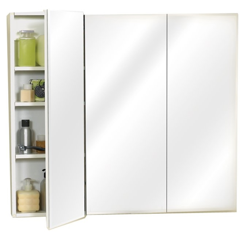 Zenith M36 Beveled Edge Mirrored Frameless Tri View Medicine Cabinet