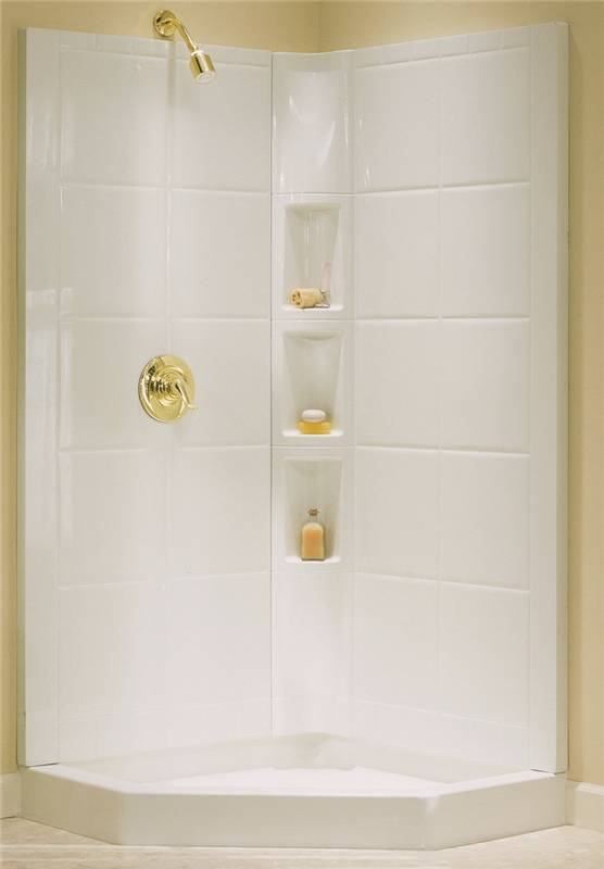 Sterling Intrigue 7204 3-Piece Shower Wall Set, 39 in L X 39 in W X ...
