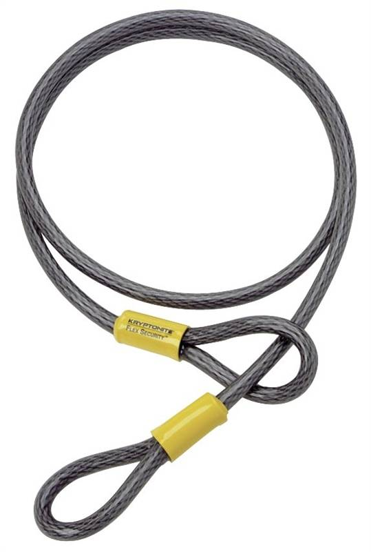 Braided Security Cable : Schlage flexible double loop security cable in