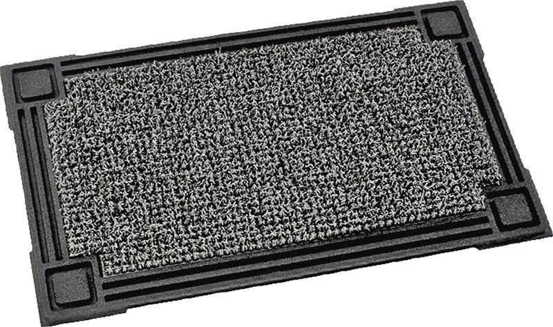 Captivating GrassWorx 10321520 Heavy Duty Door Mat, 30 In L X 18 In W, Cinder Grass
