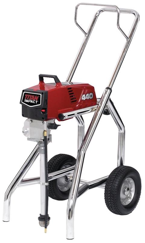 Titan 440 High Rider Corded Piston Pump Paint Sprayer, 7/8 hp, 0 54 gpm,  3300 psi