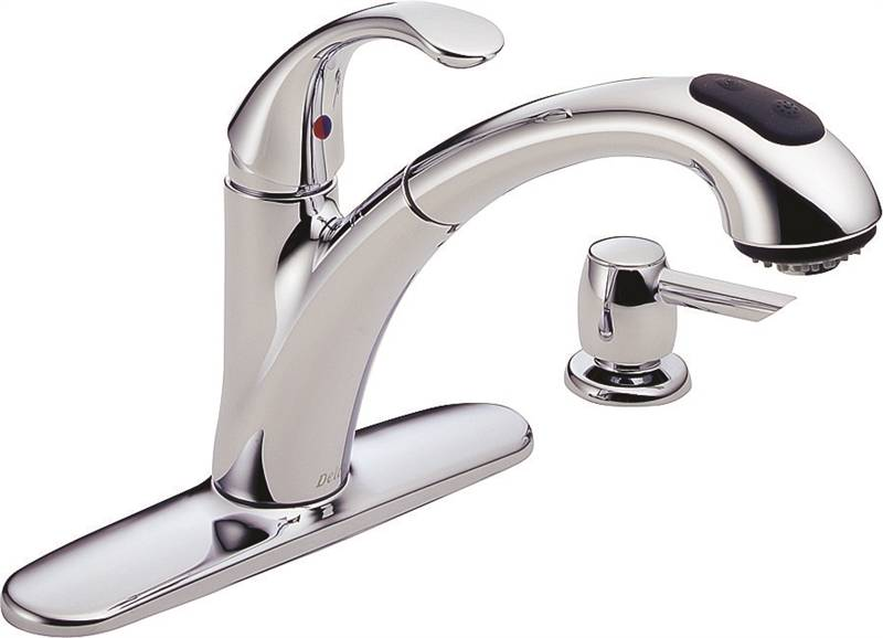 Delta Kitchen Faucets.Delta Classic Pull Out Kitchen Faucet 9 5 8 In X 6 1 2 In Spout