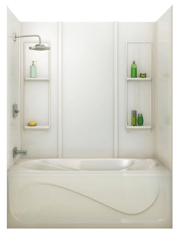 Maax Elan 5-Piece Bathtub Wall Kit, 48 - 61 in L x 30 - 32 in W x 59 ...