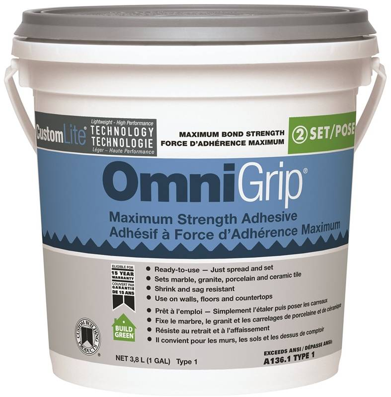 Custom Building Coga1 2 Omnigrip Tile Adhesives High Polymer Gallon