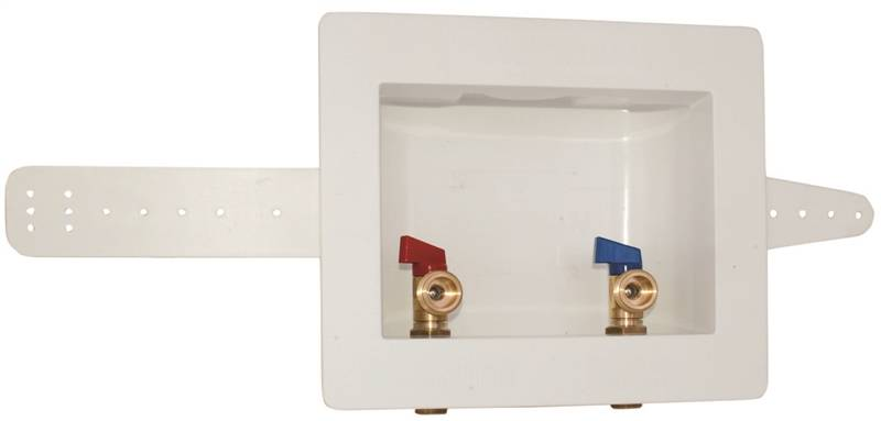 Eastman 60248 Dual Outlet Washing Machine Outlet Box 1 2