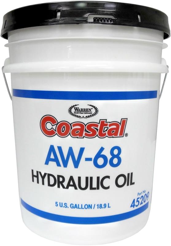 Coastal 45209 Premium Hydraulic Oil 5 Gal Clear Amber