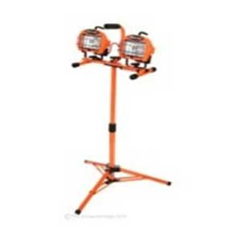 Designers Edge Portable Fluorescent Work Light: Designers Edge L-1719 Adjustable Twin Head Work Light, 500