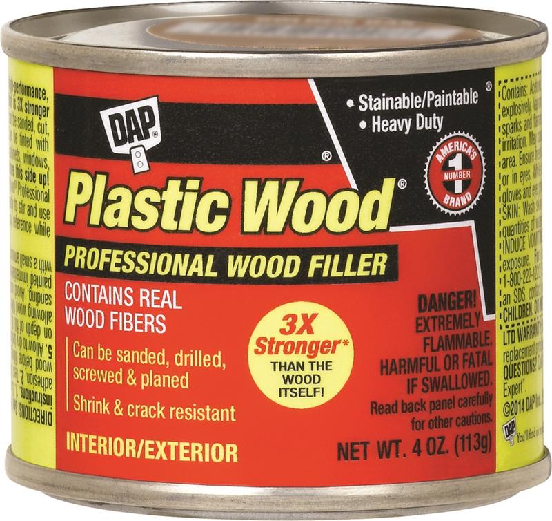 Dap Plastic Wood Solvent Based Wood Filler 4 Oz White 1 Hr