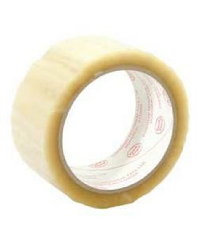 Cantech 243-00 General Purpose Box Sealing Tape, 48 mm W x 66 m L x 1 7 mil  T, Clear