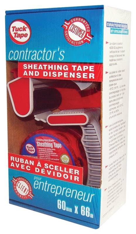 Cantech 7205-02 Sealing Tape With Dispenser, 60 mm W x 60 m L, Red