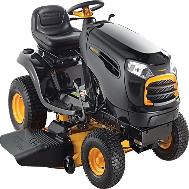 poulan pro pp20va46 lawn tractor  46 in w x 1-1  2