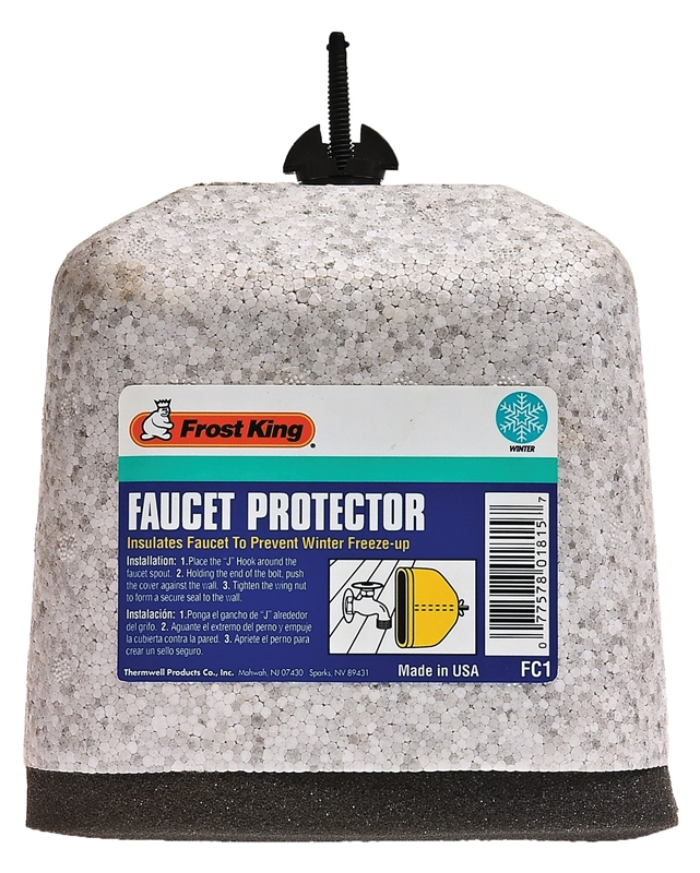 Frost King FC1 Faucet Cover, 1 in Thickness, Polystyrene Shell