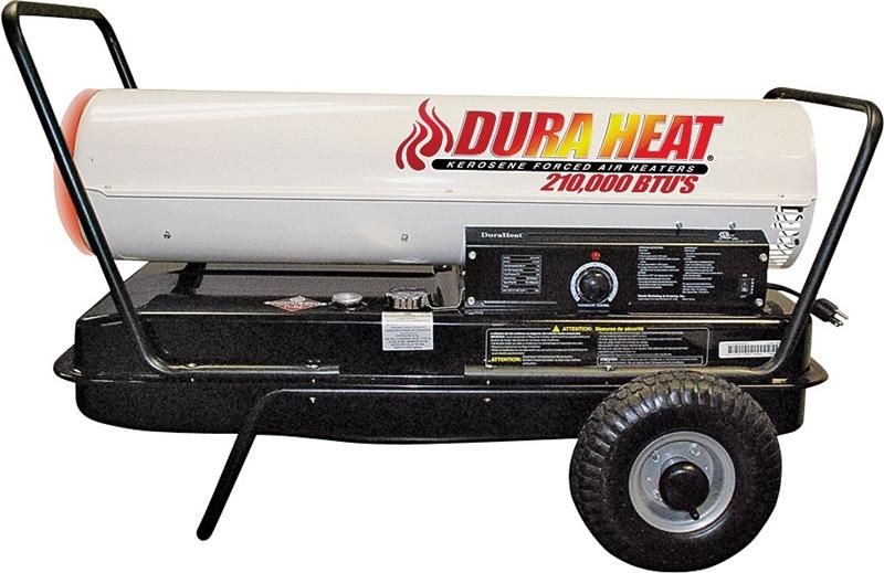 DuraHeat DFA210CV Forced Air Heater with Thermostat, 170000/210000 BTU,  4000 - 5000 sq-ft, 1500 W