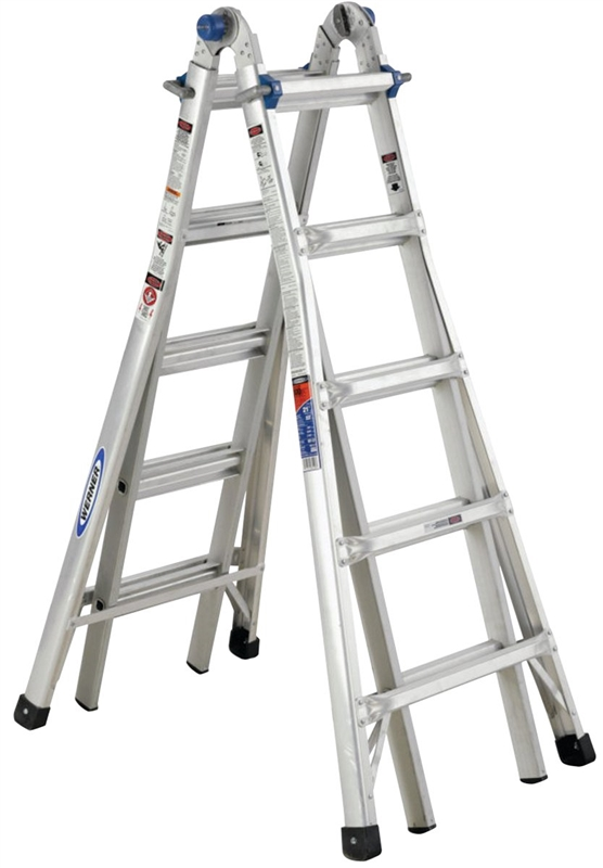 Werner Mt 22 Telescoping Multi Ladder 300 Lb 1 In 2 5 8 In
