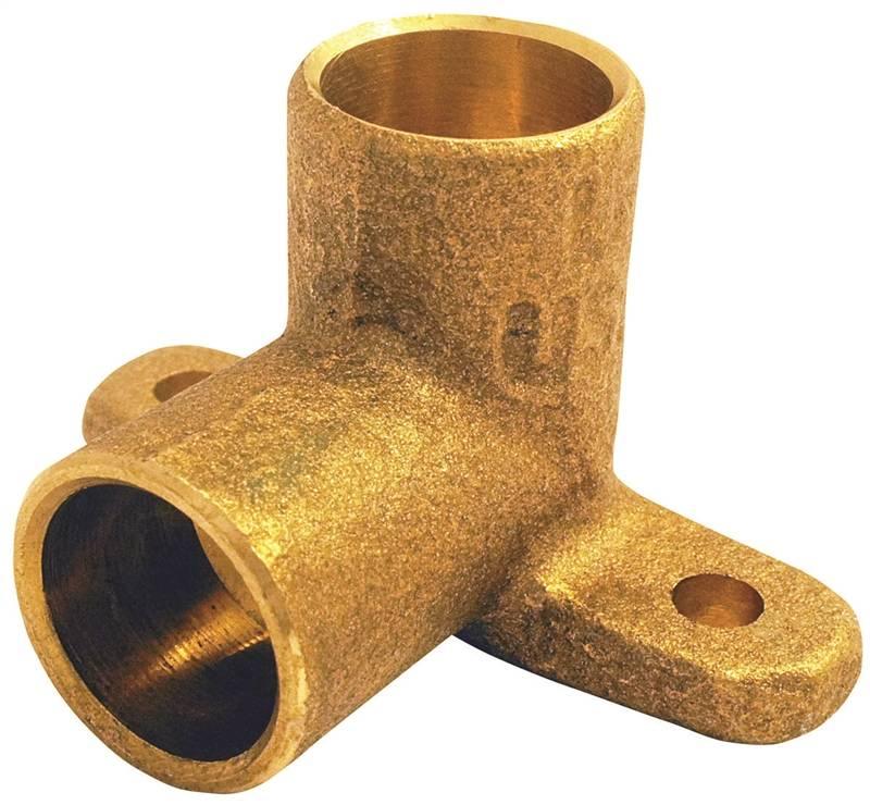EPC 10156880 Drop Ear Tube Elbow, 90 deg, 3/4 in, Sweat, Cast Copper