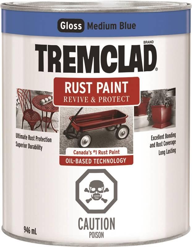 Rustoleum 254905 Tremclad Oil Based Paint Rust Inhibitive Medium Blue