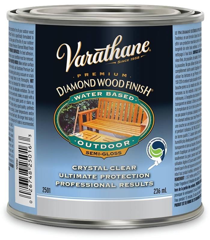 Rustoleum y250161 varathane wood finish exterior water based semi gloss for Varathane water based exterior polyurethane