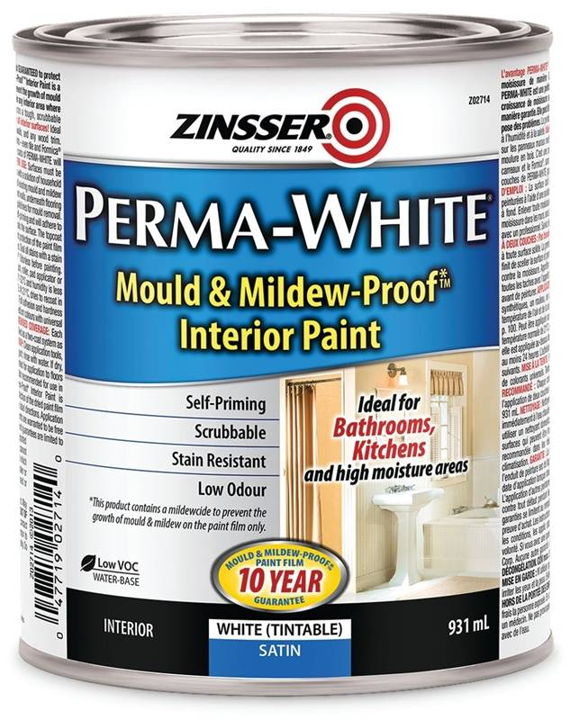 Rustoleum Z02714 Interior Latex Paint Mold And Mildew Proof Satin