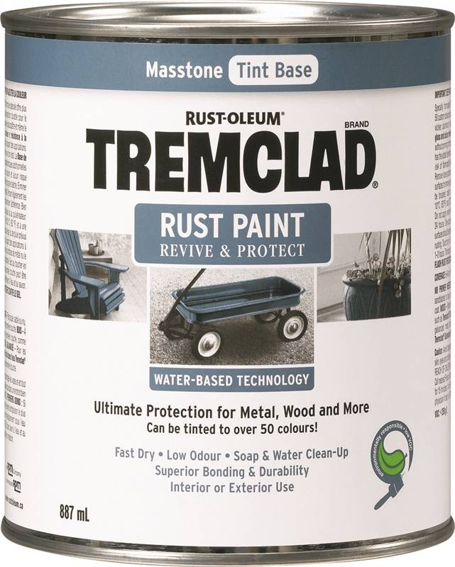 tremclad 260100wb524 rust preventive topcoat water based rus