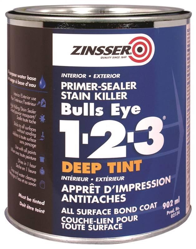 Rustoleum Z02134 Bulls Eye 1-2-3 Primer/Sealer, Stain Blocker, 902 mL