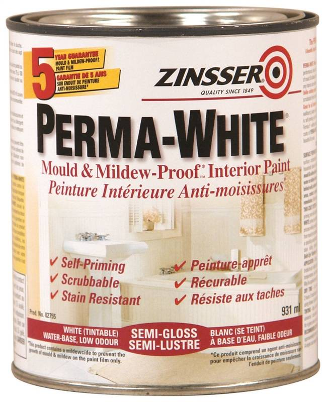 Rustoleum Z02755 Interior Latex Paint Mold And Mildew Proof Semi Gloss