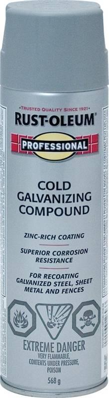 Rust-Oleum V1200 High Performance Cold Galvanizing Compound Spray, 20 oz  Spray, 12 - 20 sq-ft, Solvent Like, Liquid