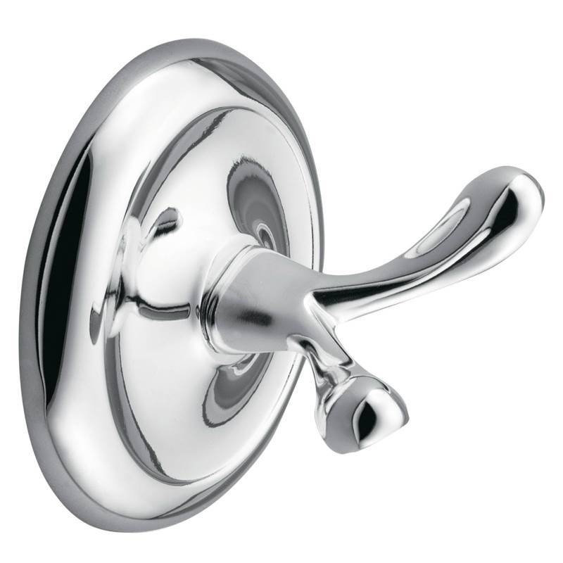 Donner Yorkshire Modern Robe Hook 3 In Dia Polished Chrome