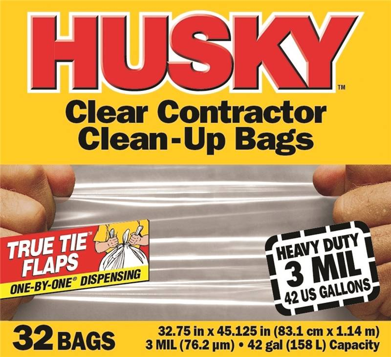 42gal Contractor Bag Clr 32ct