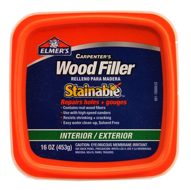 Elmer 39 S Carpenter 39 S Stainable Wood Filler 1 Pt Tub 12 24 Hr