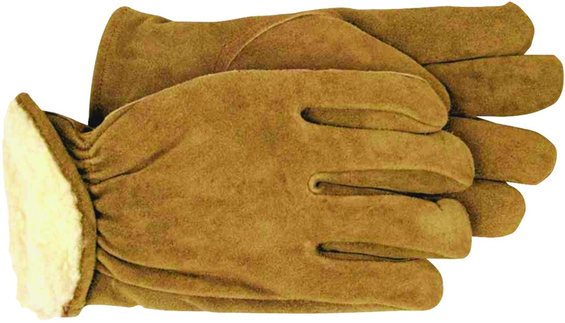 Medium Boss Gloves 6133M Cotton Thermal Grain Cowhide Leather Driver